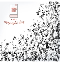 Copyright and book day vector image