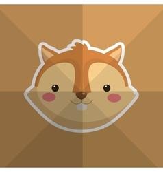 Cute squirrel head image vector