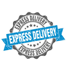 express delivery stamp sign seal vector image