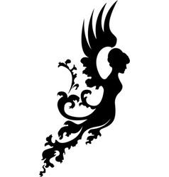 fantasy angel vector image vector image