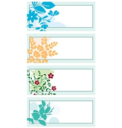 floral backgrounds with plants vector image