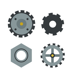 Gear icons isolated mechanics vector