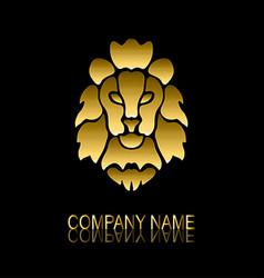golden lion symbol vector image vector image