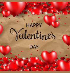 happy valentines day border cardboard background vector image vector image