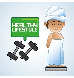 Healthy lifestyle icon pixel concept Flat vector image vector image