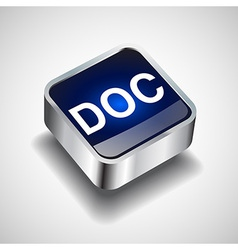 icon format button file document icon button vector image