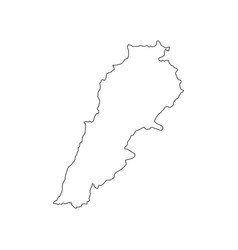 lebanon map silhouette vector image