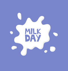 milk day splash concept card vector image