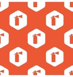 Orange hexagon fire extinguisher pattern vector