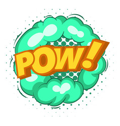 Pow explosion bubble icon pop art style vector