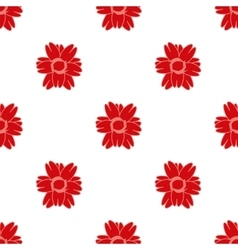 Red flower seamless pattern 2 vector image