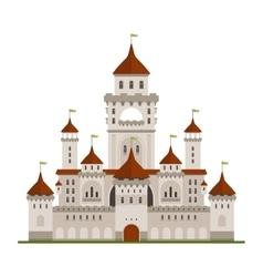 Royal family castle with guard walls main palace vector
