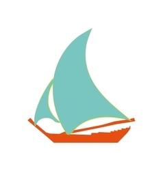 Sailing ship sign pattern vector