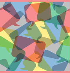 Seamless pattern transparent color speech bubbles vector