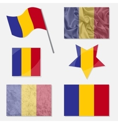 Set with Flags of Romania vector image vector image