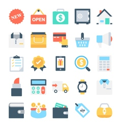 Shopping and e-commerce icons 4 vector