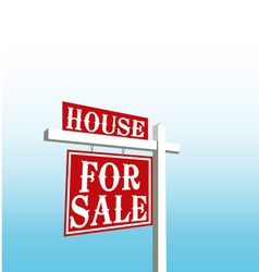 Sign of house for sale vector image vector image