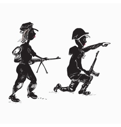 Soldiers Family vector image