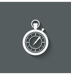 Stopwatch design element vector
