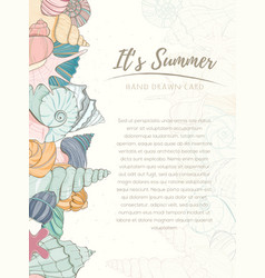 summer paradise holiday marine card vector image