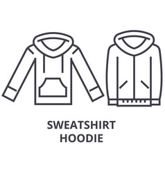 sweatshirt hoodie line icon outline sign linear vector image