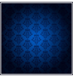 vintage blue wallpaper vector image vector image