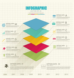 Web infographic template vector