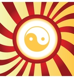 Ying-yang abstract icon vector