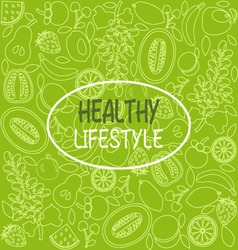 Healthy food poster or banner vector