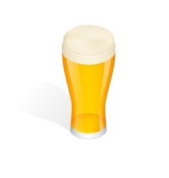 Isometric glass of beer isolated vector