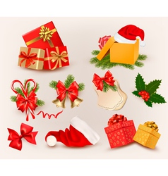 Big set of christmas icons and objects vector