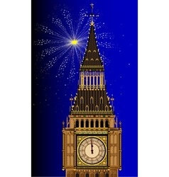 London mew years eve vector