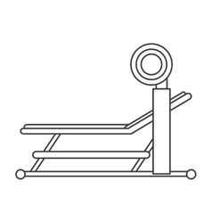 outline brench press with weight barbell sport vector image