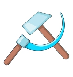 Hammer and sickle icon cartoon style vector image