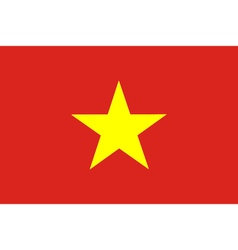 Colored flag of vietnam vector