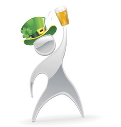 metallic man st patrick s day concept vector image