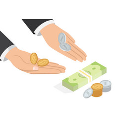 Offer of money isometric projection concept vector