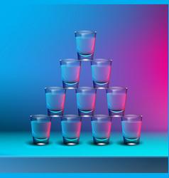 Pyramid of shots vector