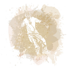 Roller skating grunge trend handcrafted splash vector