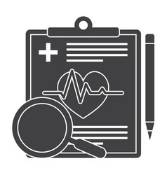 Medical diagnostic icon vector