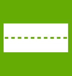 Straight road icon green vector