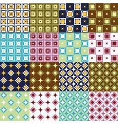 Seamless patterns collection vector