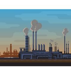Industrial landscape vector