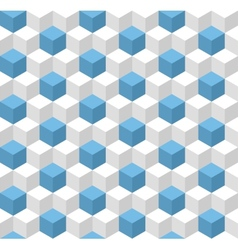 Geometric seamless background with cubes vector