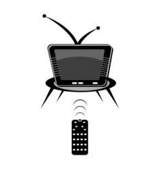 Tv with remote vector