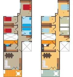 Plan scheme vector image