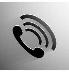 Phone handset icon background vector