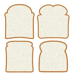 Bread slices vector