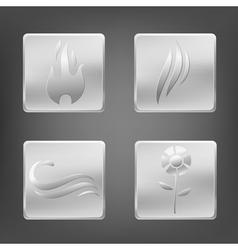 Nature metal elements vector