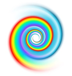 Rainbow spiral spectrum vector